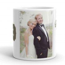 Fényképes bögre, esküvői
