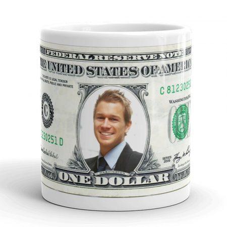 Fényképes bögre, amerikai dollár