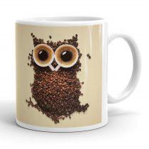 Baglyos kávés bögre
