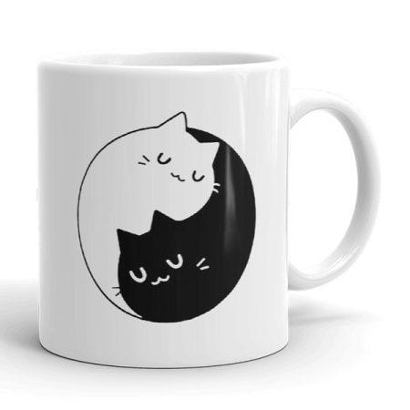 Macskás Jin-Jang bögre