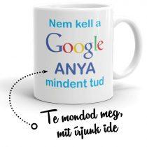 Google egyedi feliratos bögre