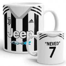 Nevesíthető Juventus  mez bögre
