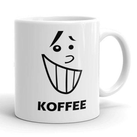 Kávés vidám arc bögre