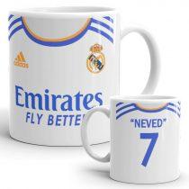 Nevesíthető Real Madrid mez bögre