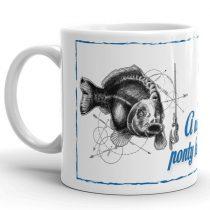 Horgászos bögre, ponty