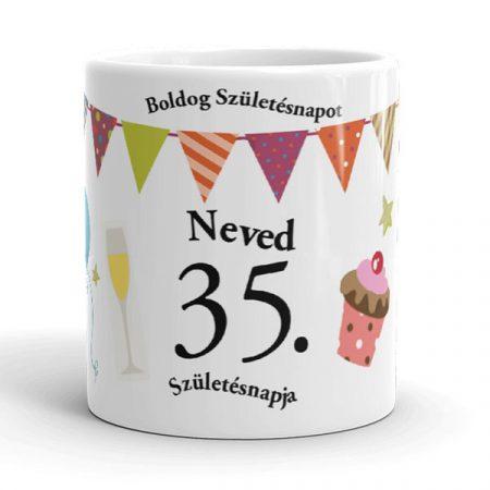 0-99 évszámos és neves születésnapi bögre