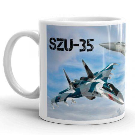 SZU-35 vadászgép  bögre