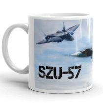 SZU-57 vadászgép  bögre
