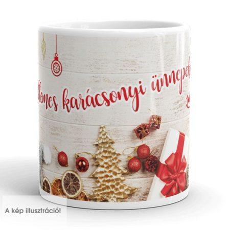Karácsonyi dekorációs bögre