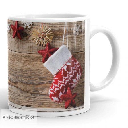 Karácsonyi bögre zoknival