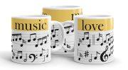 Zene szerelmese bögre