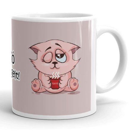 Macskás kávés bögre