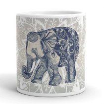 Elefántos mandala bögre