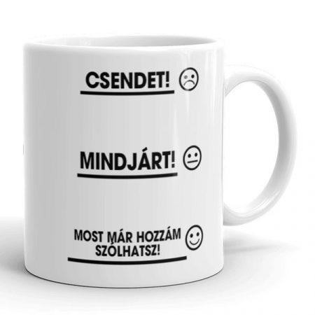 Reggeli kávé bögre