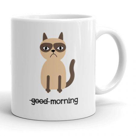 Macskás reggeli kávés bögre