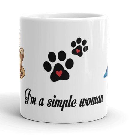 Egyszerű nő vagyok bögre