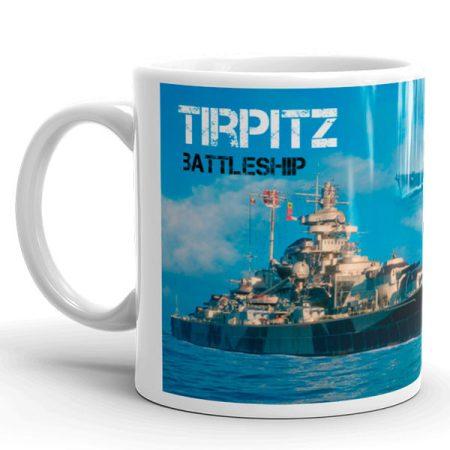 Tirpitz csatahajó bögre